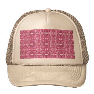 Modern pink abstract watercolor pattern trucker hat