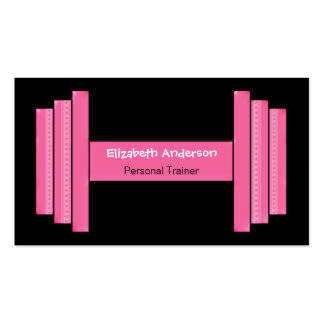 Modern Pink And Black Personal Trainer Pack Of Standard Business Cards