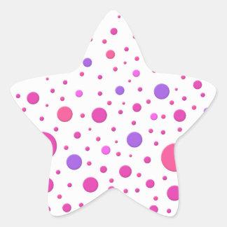 Modern Pink and Purple Random Circles Stickers