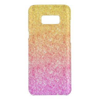 Modern Pink And Yellow Faux Glitter 2 Uncommon Samsung Galaxy S8 Plus Case