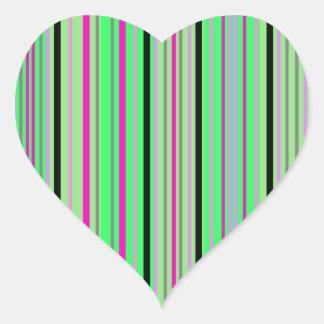 Modern pink black and bright green stripes sticker