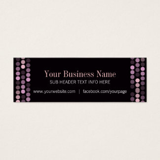 Modern Pink+Black Mini Business Cards