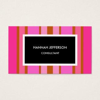 Modern Pink Black Minimalist Feminine Professional