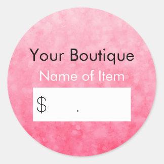 Modern Pink Bokeh Boutique Retail Price Tag