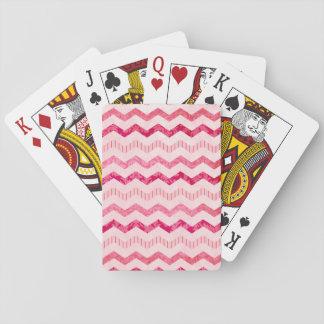 Modern Pink Chevron Pattern Card Deck