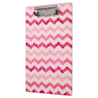 Modern Pink Chevron Pattern Clipboard