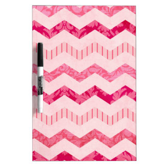 Modern Pink Chevron Pattern Dry-Erase Whiteboards