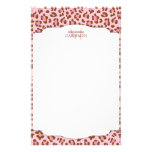 Modern Pink Choco Animal Print Girly Personalised Stationery