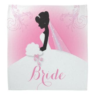 modern pink Elegant bride silhouette bride Bandana