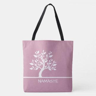 Modern Pink Elegant Classy Tree YOGA Tote Bags