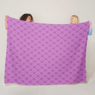 Modern Pink Faux Fairy Princess Flowers Pattern Fleece Blanket