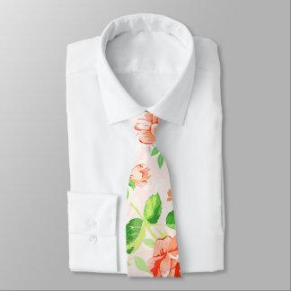 Modern Pink Floral Tie