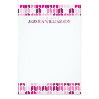 Modern Pink Geometric Pattern Note Cards 9 Cm X 13 Cm Invitation Card