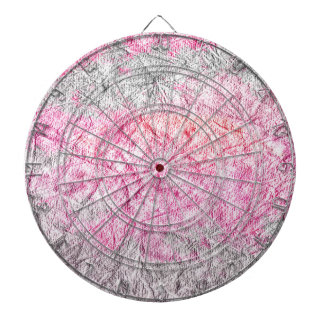 Modern pink gray watercolor grunge paper dart board