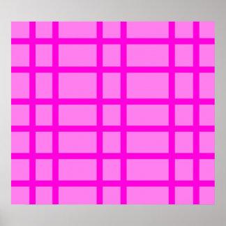 Modern pink grid design poster