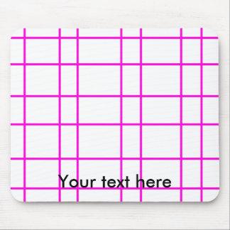 Modern pink grid pattern mouse pad