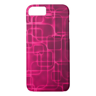 Modern Pink Laser Art iPhone 7 Case