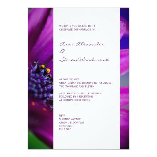 Modern Pink & Purple Floral Wedding Invitation