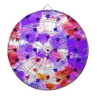 Modern pink purple grunge paper birds dartboards