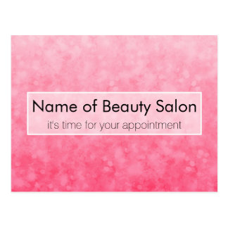 Modern Pink Salon Appointment Soft Chic Glitter Post Cards