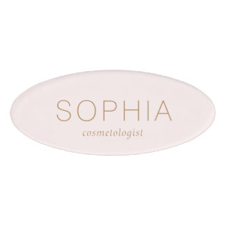 Modern Pink Salon Spa Name Tag