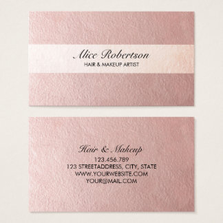 Modern pink shiny style business card