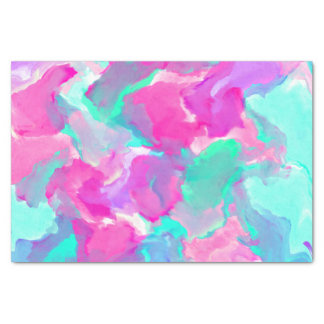 Modern pink teal watercolor marble pattern tissue paper