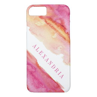 Modern Pink Watercolor Wash iPhone 8/7 Case