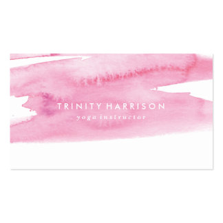 Modern Pink Watercolor Wash Pack Of Standard Business Cards