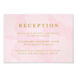Modern Pink Watercolor Wedding Reception Card 9 Cm X 13 Cm Invitation Card