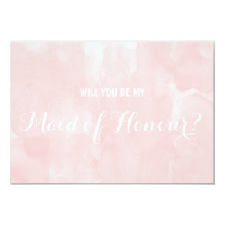 Modern pink watercolor Will you be my Card