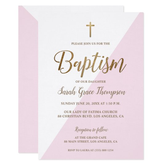 20 Girl Baptism Invitations With Cross