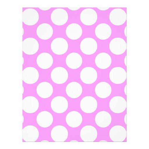 Modern Pink White Polka Dots Pattern Flyer