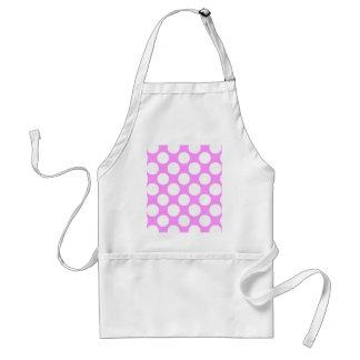 Modern Pink White Polka Dots Pattern Standard Apron