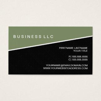 Modern Pinstripe Business Card Template (Moss)