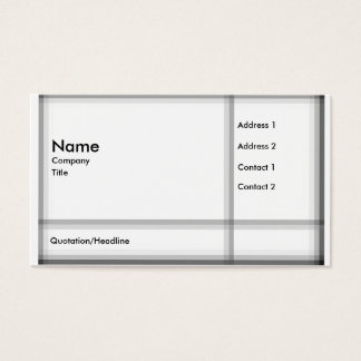Modern Plaid Business Card