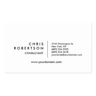 Modern Plain Black White Attractive Business Card