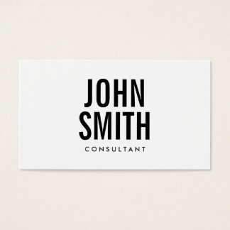 Modern Plain Bold Text Minimalist Business Card