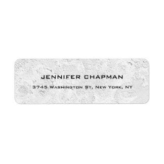 Modern Plain Elegant Professional Grey Wall Design Return Address Label