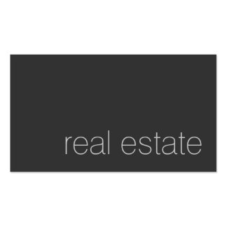 Modern Plain Grey Real Estate Agent Business Card