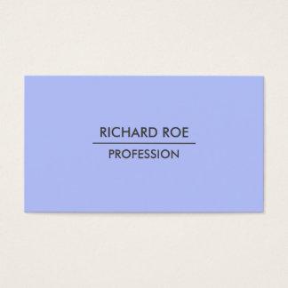 Modern Plain Professional Blue Business Cards