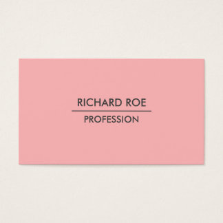 Modern Plain Professional Red Business Cards