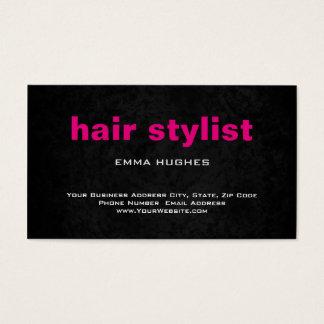 Modern Plain Simple Gray Pink Hair Stylist