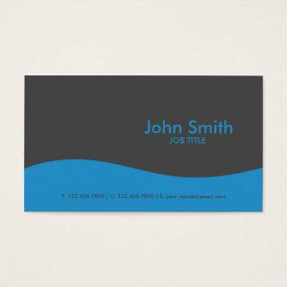 Modern Plain Simple Hi Tech Blue Business Card