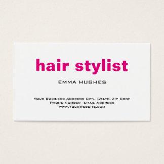Modern Plain Simple Pink White Hair Stylist