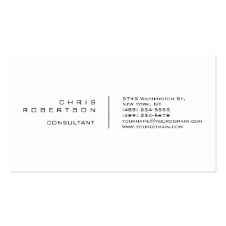 Modern Plain Simple White Attractive Business Card