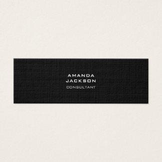 Modern Plain Trendy Minimalist Black Professional Mini Business Card