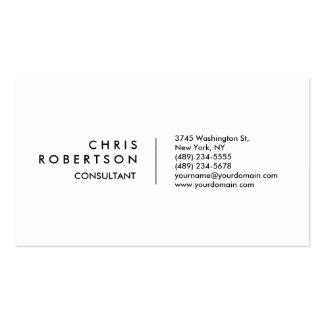 Modern Plain White Attractive Business Card