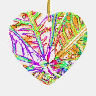 modern plant ceramic heart decoration