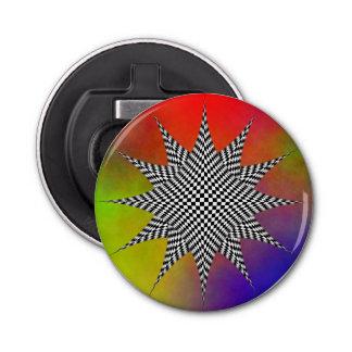 Modern Plasma Button Bottle Opener